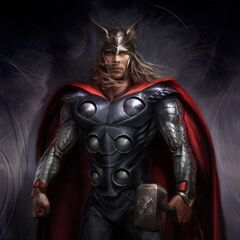 Production concept art of Thor.