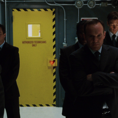 Coulson stands ready with fellow agents to blow open the door to Sector 16