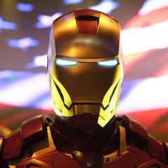 Iron Man's arrival.