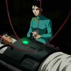 Li Mei with injured Tony.