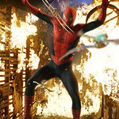 Spider-Man vs. the Goblin's razor bats.