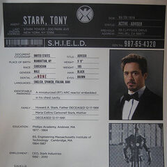 Stark SHIELD File (<i>The Avengers</i> Deleted Scene).