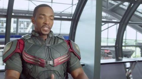"Captain America Civil War Behind-The-Scenes ""Falcon"" Interview - Anthony Mackie"