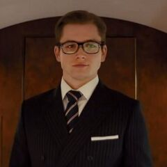 Eggsy in his Kingsman suit.