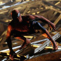 Spider-Man upon the bridge.