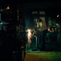 Ivan Vanko creating his first Arc Reactor.