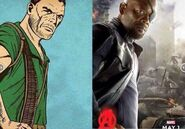 Nick Fury-comic comparison