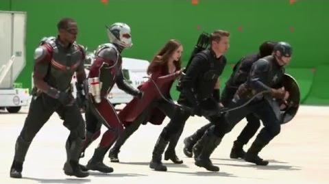 New 'CAPTAIN AMERICA CIVIL WAR' Behind-The-Scenes Footage
