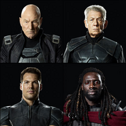 Professor X, Magneto, Colossus and Bishop