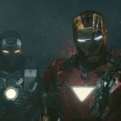 Iron Man and War Machine see Vanko's defeated
