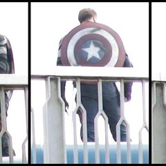Chris Evans stand-in on set in South Korea