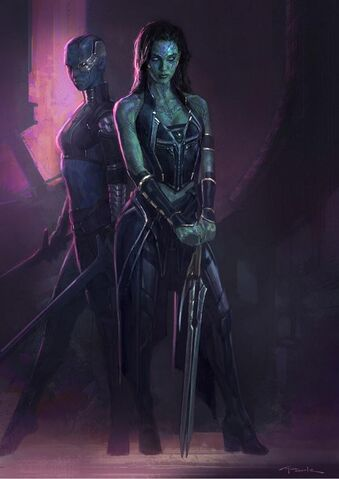 File:Gamora and Nebula Gotg Concept Art.jpg
