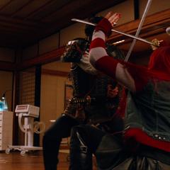 Yukio battling Lord Shingen