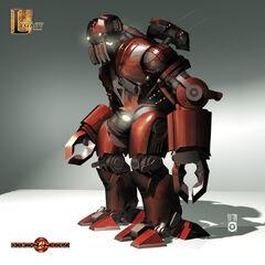 Concept art for a Russian battle droid.