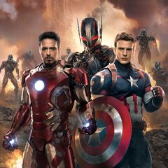 Ultron, Iron Man, and Captain America (Official First Look)