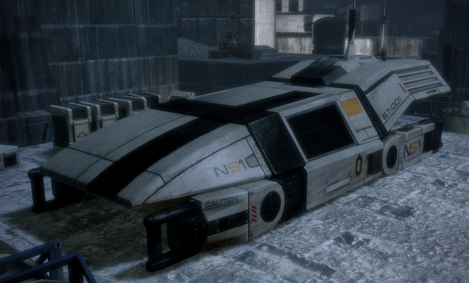 Mass Effect 3 Vehicles: UT-47 Kodiak Drop Shuttle