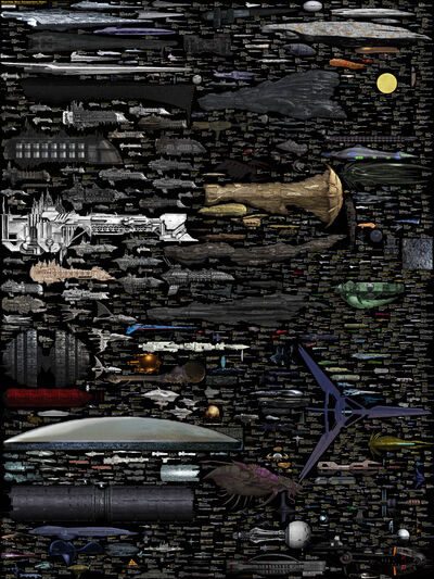 Size comparison science fiction spaceships by dirkloechel-d6lfgdf