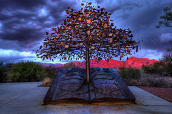 Tree of knowledge-public library-oro valley-arizona