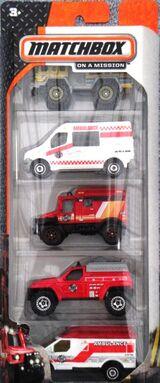 Matchbox 2014 5 pack Rescue Duty