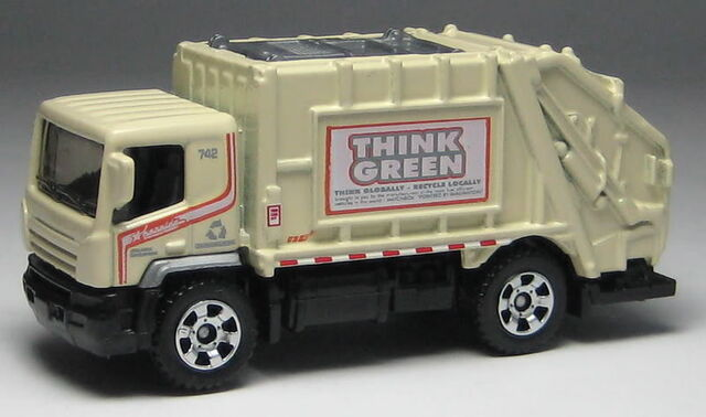 File:Garbage truck think green beige.jpg