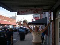 Mayberry Days - Bren @ Floyd's Barber Shop