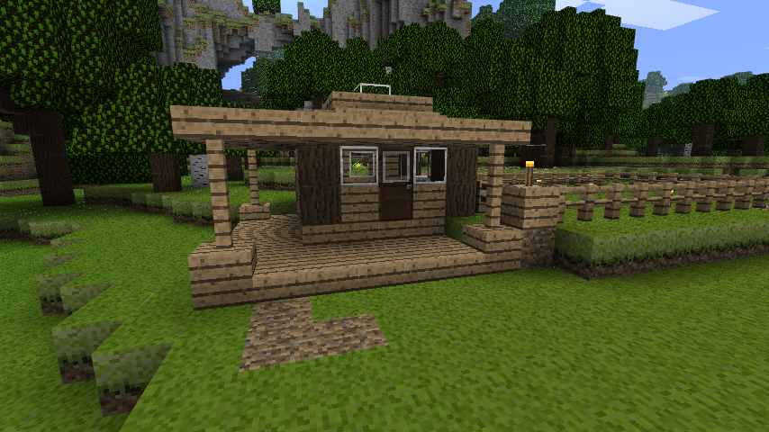 Small Cabin Minecraft Constuctions Wiki Fandom Powered