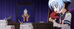 Hakama in his office with Shiranui