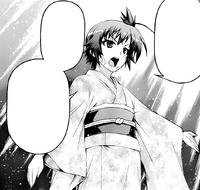 Medaka in her mother's kimono