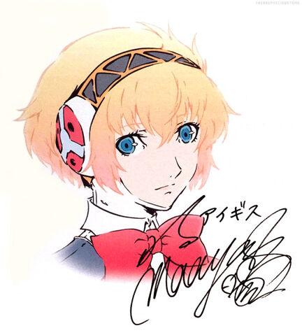 File:P3M Aigis Illustrated by Yukio Hasegawa and Painted by Saori Goda.jpg