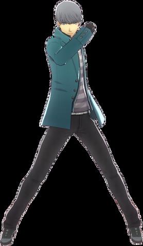 File:P4D Yu Narukami Midwinter Outfit change free DLC.png