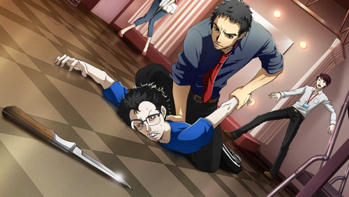 File:P4D Story Mode Investigation Team, Dojima restain suspicious man.jpg