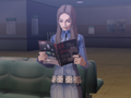 Chiaki looking at an occult magazine.png