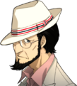 P5 portrait of Sojiro Sakura's casual attire with hat