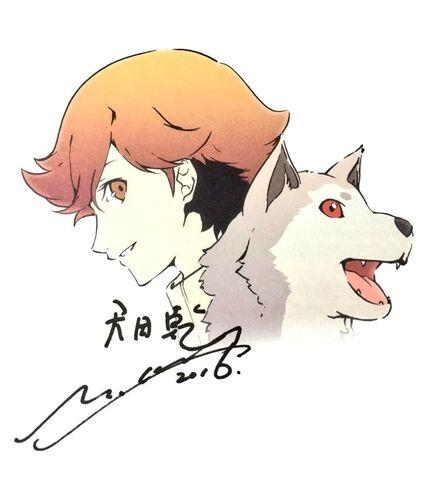 File:P3M Ken and Koromaru Illustrated by Yukio Hasegawa and Painted by Saori Goda.jpg