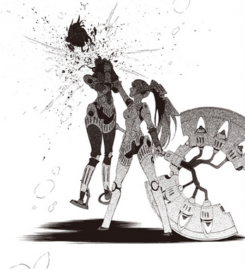 File:P4A manga Labrys unwilling killed her sister unit.png