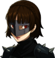 P5 portrait of Makoto Nijima's phantom thief outift