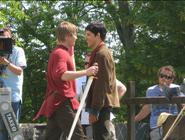 Bradley James and Colin Morgan Behind The Scenes Series 4