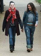 Katie McGrath and Angel Coulby-5