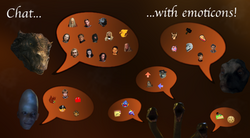 Chat with emoticons