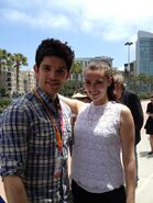 Colin Morgan and Katie McGrath Comic Con 2012