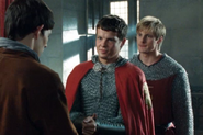 Sir Owain with Merlin