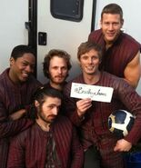 Bradley James and The Knights of The Round Table Cast Behind The Scenes Series 4