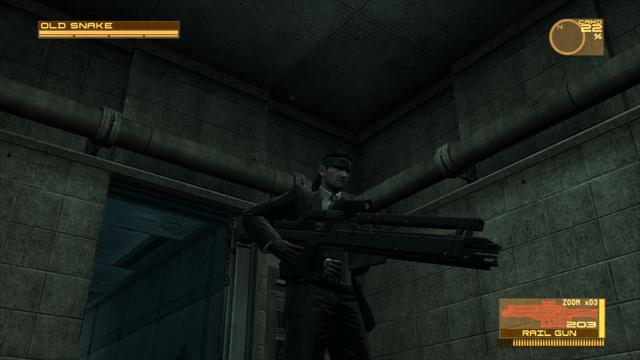 File:Snake using a Rail Gun (Metal Gear Solid 4).png