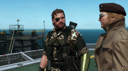 Metal gear venom snake leopard stripe golden arm