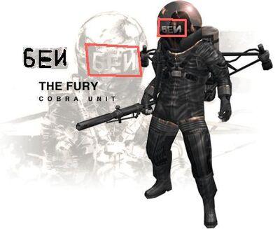 The Fury's БЕИ helmet