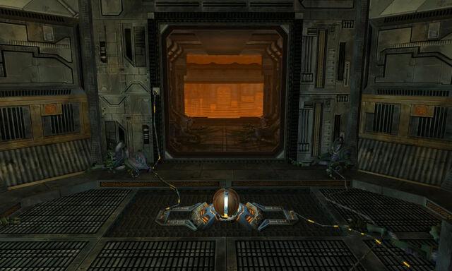File:Reactor Core Entrance Morph Ball door open Dolphin HD.jpg