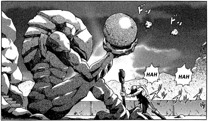 Chozo Statue manga