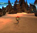 Experimental simulated desert area