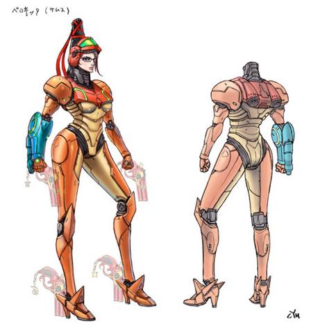 File:Bayonetta 2 Samus suit concept (beta).png