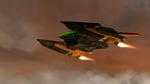 Bryyo fire gunship flying
